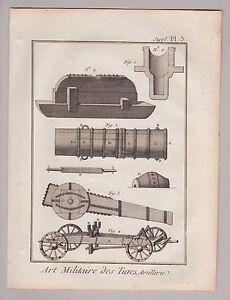 Militaria - Art Militaire - Artillerie - Türkei - 2 Kupferstiche (Diderot) 1750