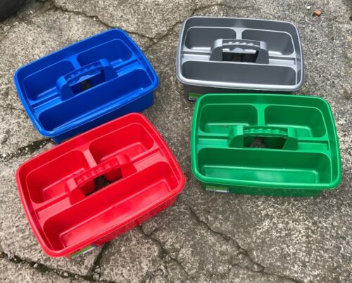 Stable Perry Equestrian 3 Compartment Plastic Tack Room Tidy Tray Storage