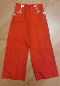 Vintage Childrens Jeans Buster Brown Red Denim Straight Wide Leg Pants 4t Ebay