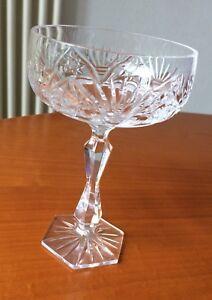 Kristallschale-Eisschale-Dessertschale-Schale-mit-Fuss-Bleikristall