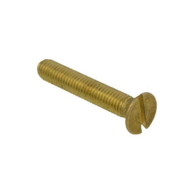 M5 (5mm) x 0.80 pitch Metric Coarse CSK Slot Machine Screw Bolt Brass