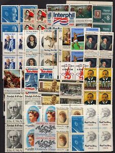 Lot-of-blocks-of-4-all-different-MNH-mixed-denominations
