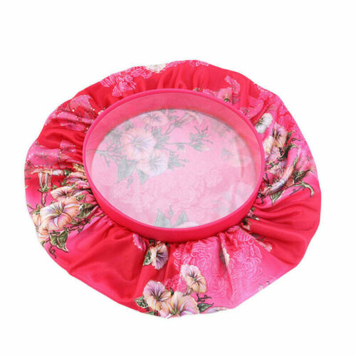 US Women Satin Night Sleep Cap Hair Bonnet Hat Silk Head Cover Wide Elastic Band