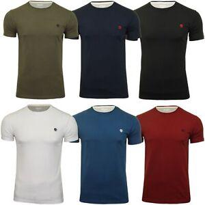 escapar Cereal definido  Timberland Mens Jersey T-Shirt 'Dun-River Crew Tee' - Short Sleeved | eBay