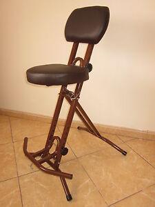 Stehhilfe-Stehhocker-Stehsitz-BRAUN-ergonomischer-6-cm-Sitz-Bis-130kg-belastbar