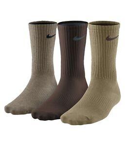 Nike-Mens-3-Pack-Assorted-Lightweight-Socks-Brown-Large