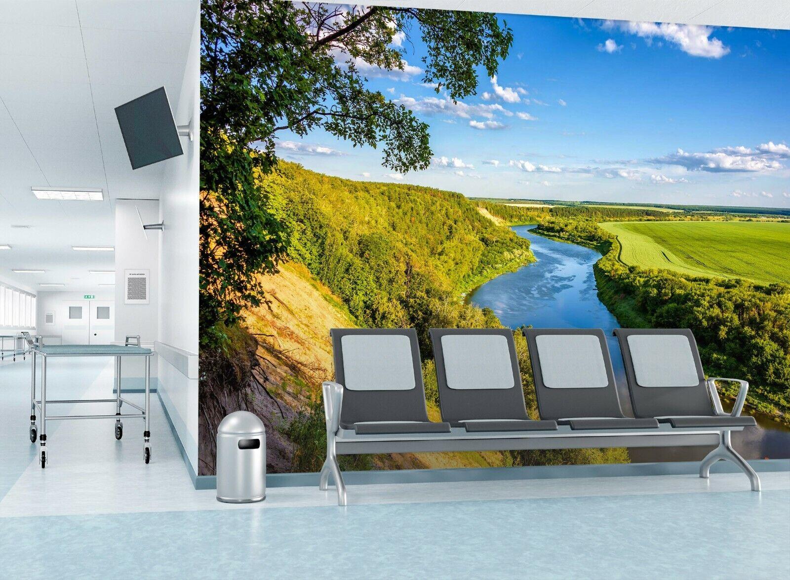 3D Flusslandschaft M980 Geschäft Tapete Wandgemälde Selbstklebend Handel Amy