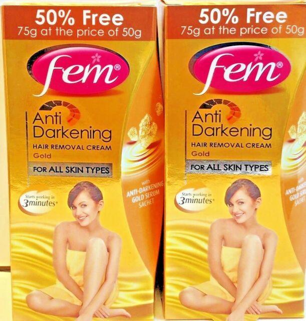 Fem Anti Darkening Hair Removal Cream For Dry Skin 40g For Sale Online Ebay