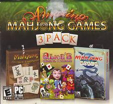 Amazing Mahjong Games 3 Pack PC Computer mahjongg world, alices, mahjong journey
