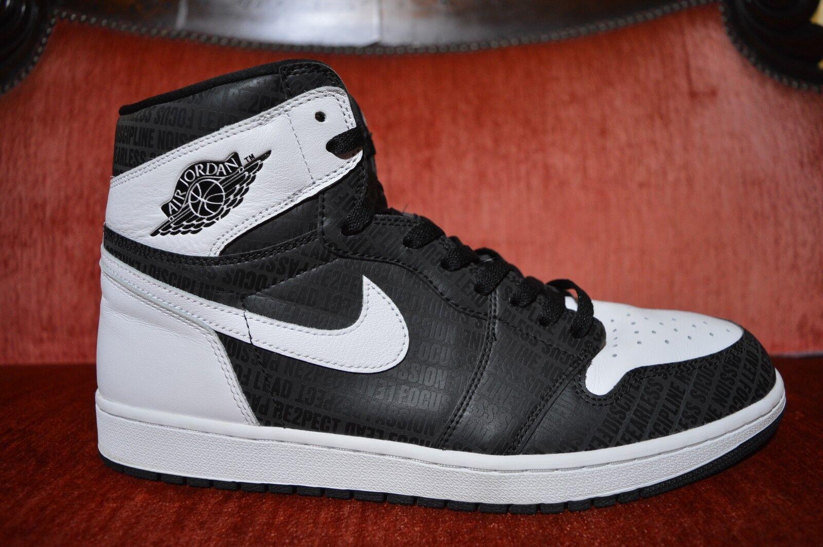CLEAN Nike Air Jordan Retro 1 High Jeter Re2pect Respect 555088-008 Size 14