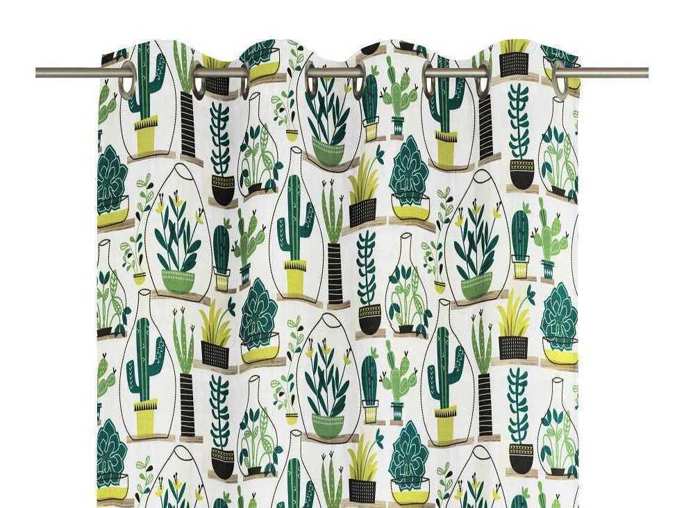 Motiv Ösenschal Oakham     Fertigvorhang natur-grün   5 Größen | Niedriger Preis  c1c3d0