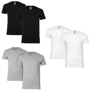 2-er-Pack-Puma-Basic-Crew-T-Shirt-Men-Herren-Unterhemd-Rundhals