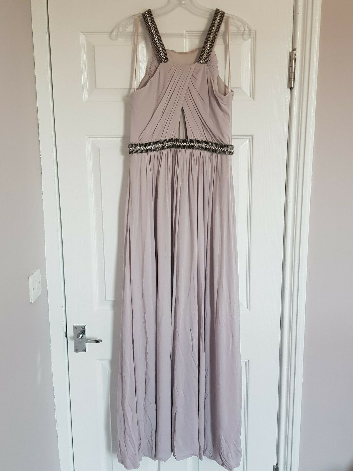 Coast Maxi Ballgown. Light pink  purplec (oyster) size 12.