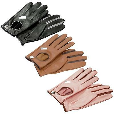 BNWT PLAYBOY BUNNY LEATHER GLOVES IN BLACK//PINK NEW