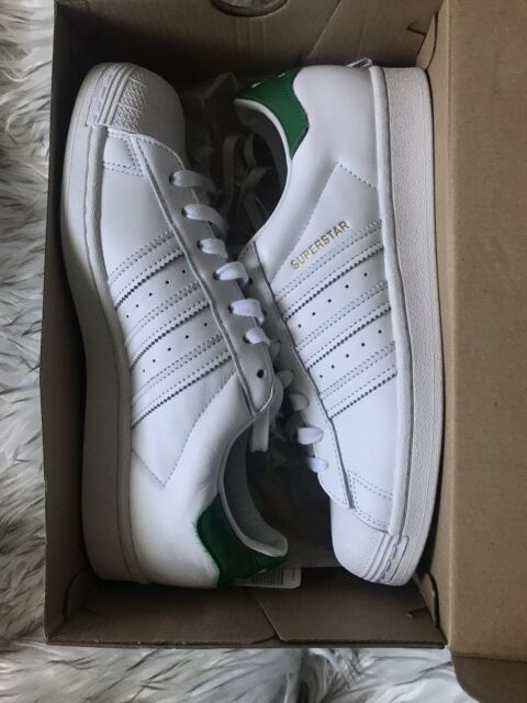 Size 9.5 - adidas Superstar Foundation White Green for sale online ...