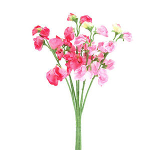 Top quality artificialsilk flowers sweet pea bunch 4 stems pink image is loading top quality artificial silk flowers sweet pea bunch mightylinksfo