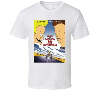 NEW Beavis and Butthead movie Figure Vintage MTV America Flag T Shirt Men/'s Size