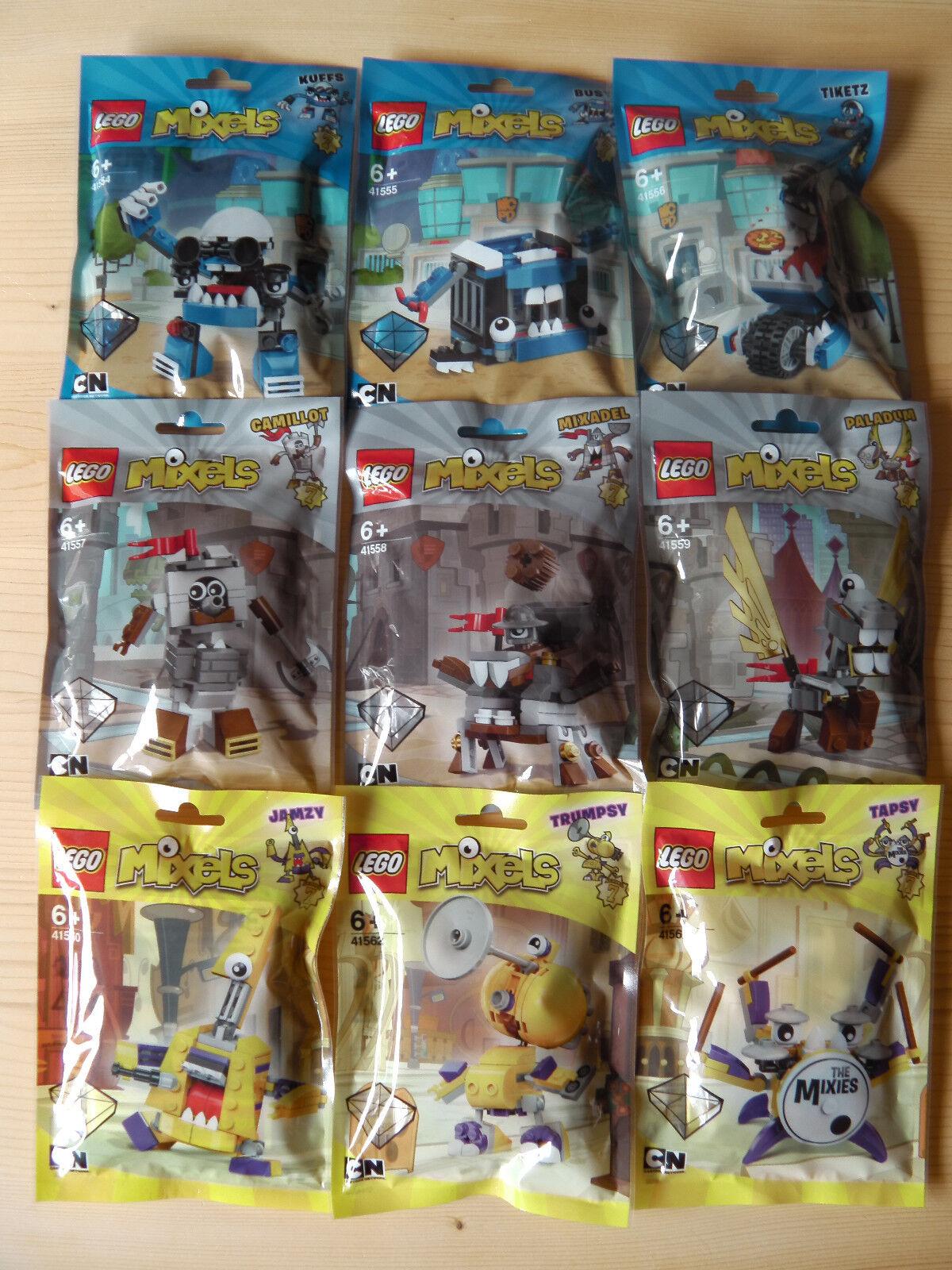 LEGO® Mixels Serie 7 komplett (41554 - 41562) 9 Stück inkl. Versand Neu & Ovp