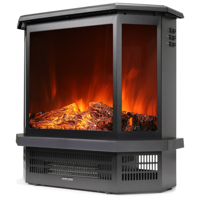 Akdy 16 Retro White Floor Freestanding Vintage Electric Stove Heater Fireplace For Sale Online Ebay