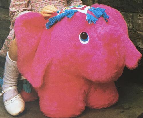 Jean Greenhowe se siente en patrón de costura Elefante Juguete Silla 2 Tamaños 47cm 67cm Rara