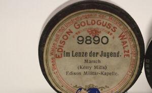 Mechanische Musik 9890 Aromatischer Geschmack Edison Goldguss Walze Im Lenze Der Jugend Nr