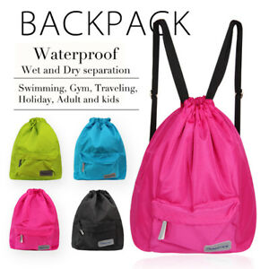 3a14e42988d Green Swimming Bag,Waterproof Wet and Dry Separation Swimming Beach ...