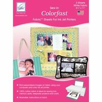 Colorfast Sew-in Ink Jet Fabric Sheets 8.5x11 Bulk - Notm083031