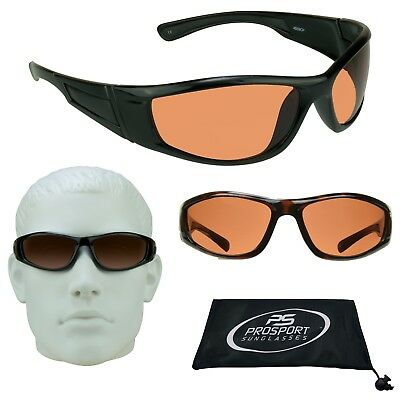 SPORT WRAP HD CLEAR DRIVING VISION SUNGLASSES METAL FRM HIGH DEFINITION GLASSES