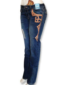 Montana-West-Trinity-Ranch-Jeans-Boot-Cut-Western-Country-Designer-Junior-Jeans
