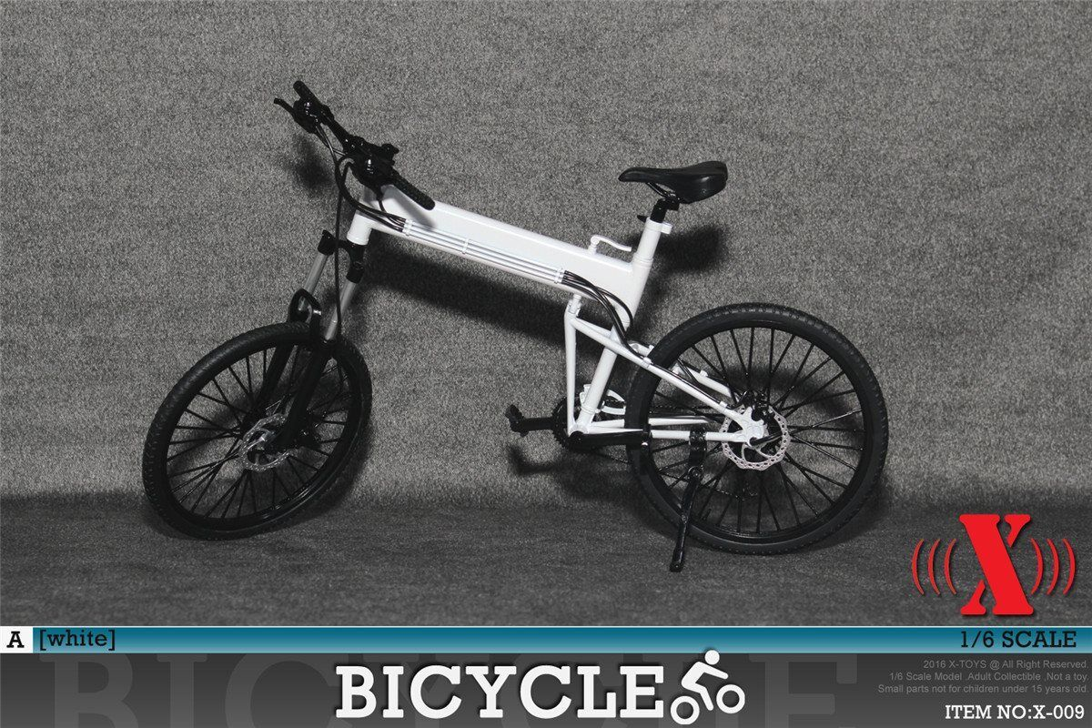 X-Toys 1:6 Scale Folding Bike (Weiß) for Figures 12