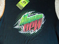 Mountain Dew Mens Large Black Muscle Shirt