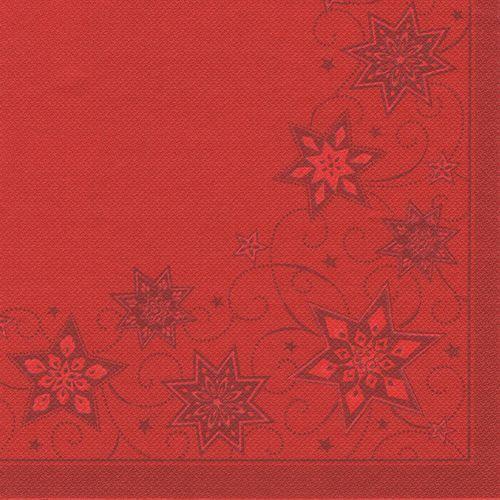 250 Premium rossa tovaglioli Royal 1 4 - piega 48 cm Just Stars DECoro TOVAGLIOLI FSC ®