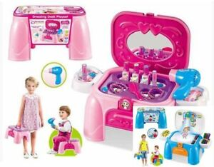 2in1-KIDS-GIRLS-MAKE-UP-DRESSING-TABLE-VANITY-CHAIR-MIRROR-PLAYSET-ACTIVITY-TOY
