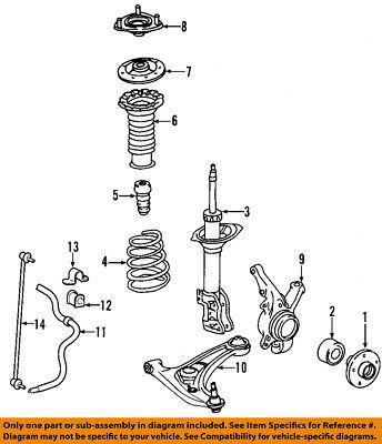 Toyota 48510-80483 Suspension Strut Assembly