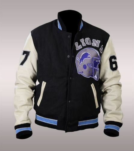 BEVERLY Hills Cop AXEL FOLEY Detroit Lions VINTAGE SPORTS Letterman Giacca