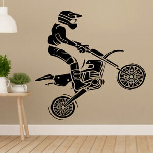 Quad Bike Wall Sticker Dirt  Motorbike Wall Decal Boys Bedroom Decor mb22