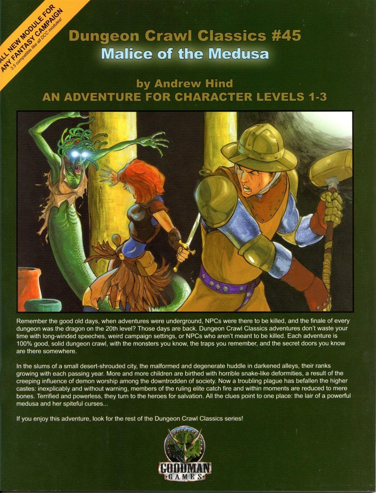 MALICE OF THE MEDUSA GOODMAN GAMES FANTASY RPG NM