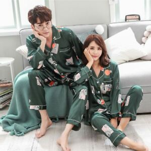 774f8064e Image is loading Couple-Matching-Adult-Women-Men-Christmas-Pyjamas-Nightwear -