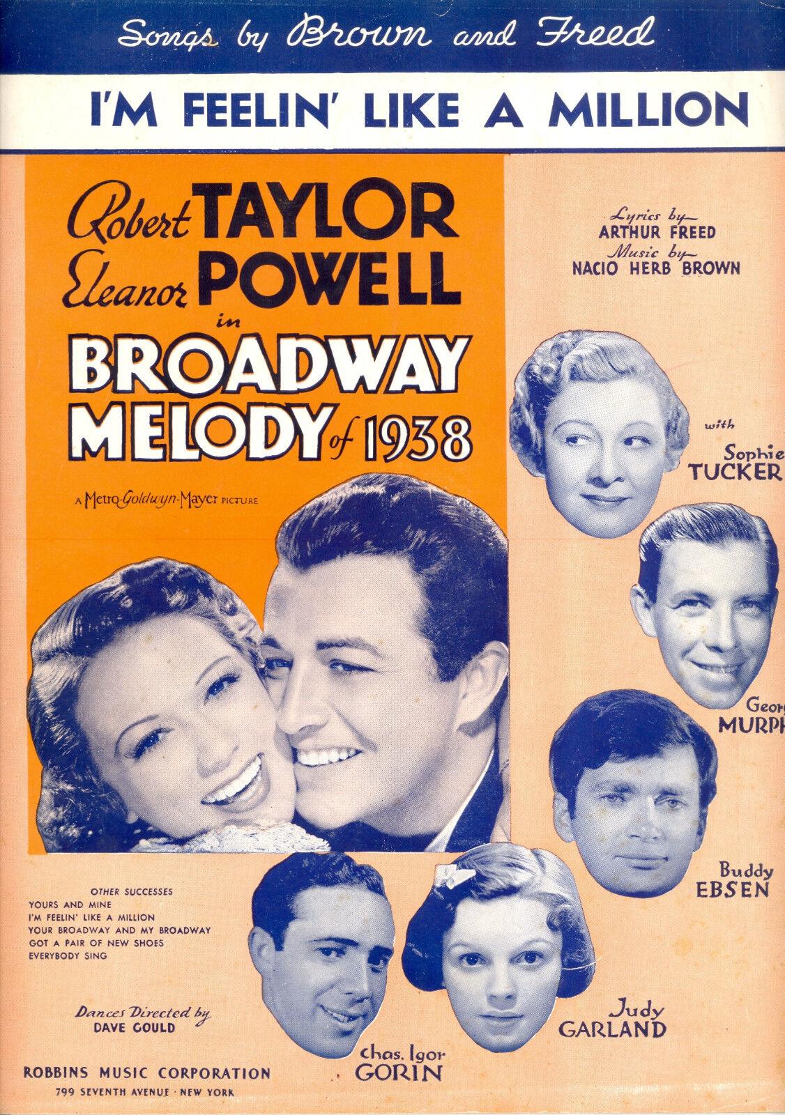 Melodía Melodía Melodía de Broadway 1938  I 'm feeling' como un millón de  Judy Garland Sophie Tucker  venta al por mayor barato