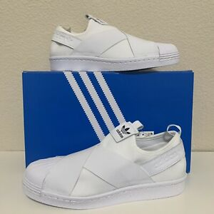 ADIDAS SUPERSTAR SLIP ON SHOES Women s WHITE S81338 SIZE 8.5 ... 9812881875b16