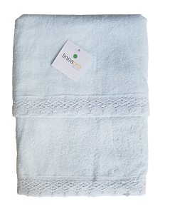 Pair Face Towel + Guest LINEA ORO - Moon - BB0016- Sponge 100% Cotton