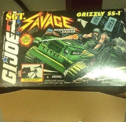G.I JOE JEEP SGT.SAVAGE GRIZZLY SS-1 GIJOE 1994