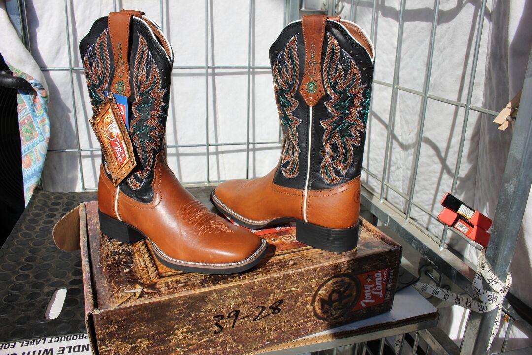 39-29 Nouveau Tony Lama Femme 6B marron clair noir Austin Western bottes 229.00