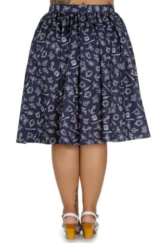 Hell Bunny MARIN Sailor Nautical Swing Skirt TELLERROCK Plus Size Rockabilly