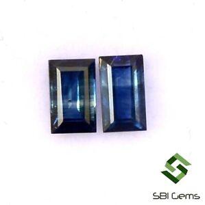 Natural-Blue-Sapphire-Baguette-Cut-Pair-4-50x2-50-mm-0-61-Cts-Loose-Gemstones