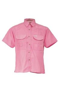 aebeefd0e7cfb Image is loading Tiger-Hill-Ladies-Gingham-Fishing-Shirt-Short-Sleeves-