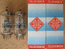 2x PCC189 / 7ES8   TELEFUNKEN  <>  tubes   - NOS -  ( ~  6DJ8 / ECC88 ) PCC 189
