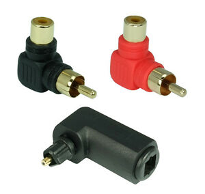 1x-90-TOSLINK-conector-Angular-2x-90-Angulo-Adaptador-RCA-Enchufe