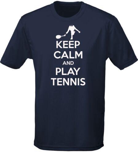 by swagwear Keep Calm And Play Tennis Mens T-Shirt 10 Colours S-3XL