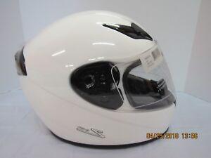 Zamp Helmet FS-8 Go-Kart / Motorcycle Helmet - Solid White (Size X-Large)